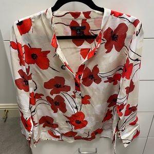 JCrew floral blouse